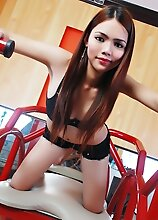 MOST Beautiful Ladyboy on Earth stripping