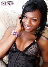 Chanel is a gorgeous ebony tgirl from Carolina. I fell for her fast when I first met her...beautiful face, long legs and big cock