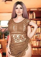 Reading makes Hot Bailey Jay horny and she strips off her dress and proceeds to jerk off