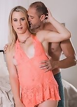 D. Arclyte is a well built stud and a pain junkie, which pisses off his sexy TS girlfriend Nikki Vicious. She tells him he is a jerk and so he sucks h
