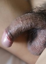 Wild Thai Ladyboy with small tits and hairy cock getting fucked